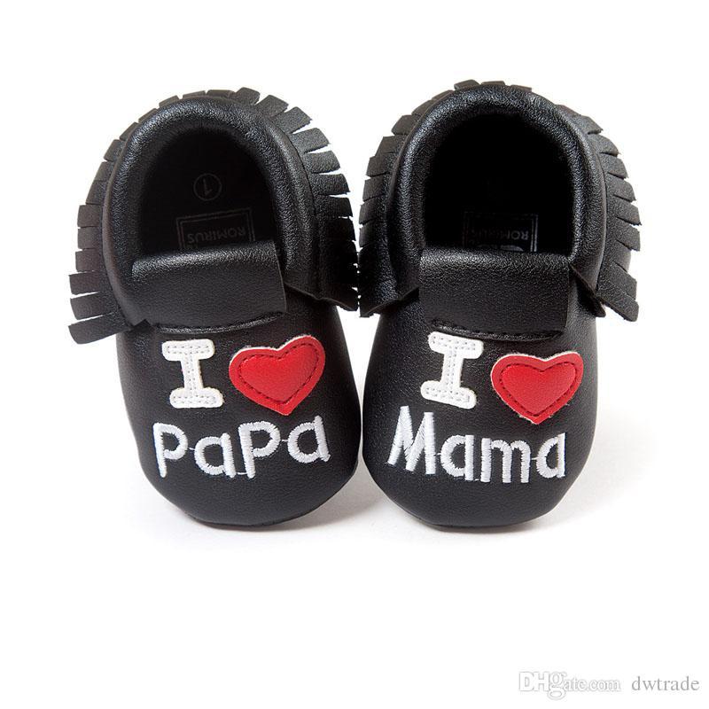 طفل لحية الأخفاف لينة وحيد بو الجلود الأولى ووكر أحذية بابا ماما الطباعة الوليد القوس الشرابة الخف أحذية الأطفال الصغار