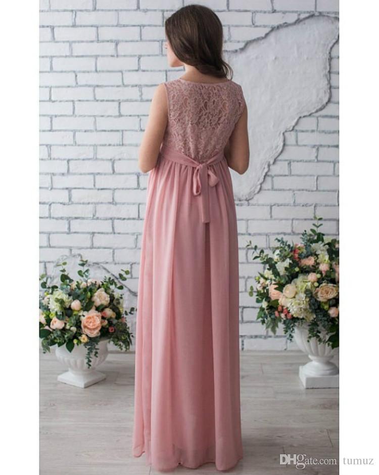 2018 الربيع والصيف لباس المرأة الحامل ، المرأة الحامل جولة الرقبة فستان الدانتيل ، النساء الحوامل تنورة