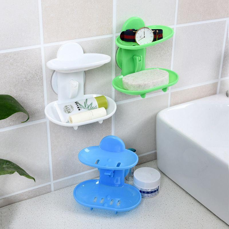 New Kitchen Tools Bathroom Accessories Soap Holder Two Layer