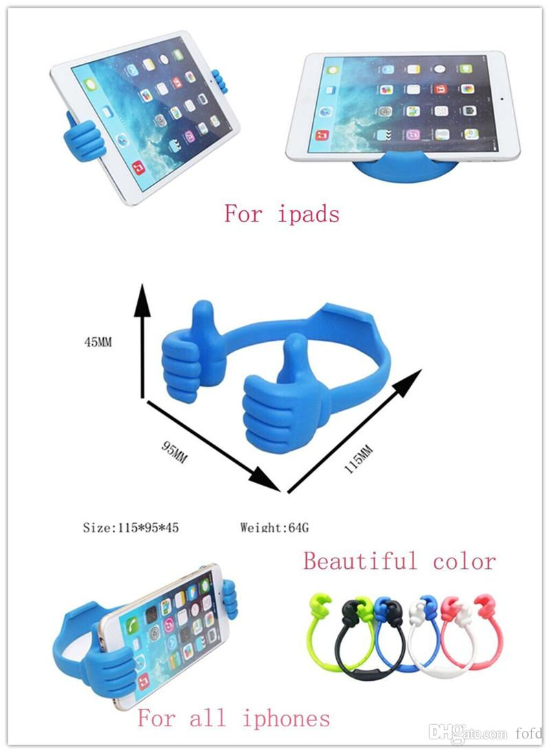 190450c56cd6e9 2019 Hot Sale Flexible Plastic Holder Thumb OK Stand Holder Clip Support  Car Desktop Bed For Iphone 7 7plus Samsung S7 S6 Universal From Fofd