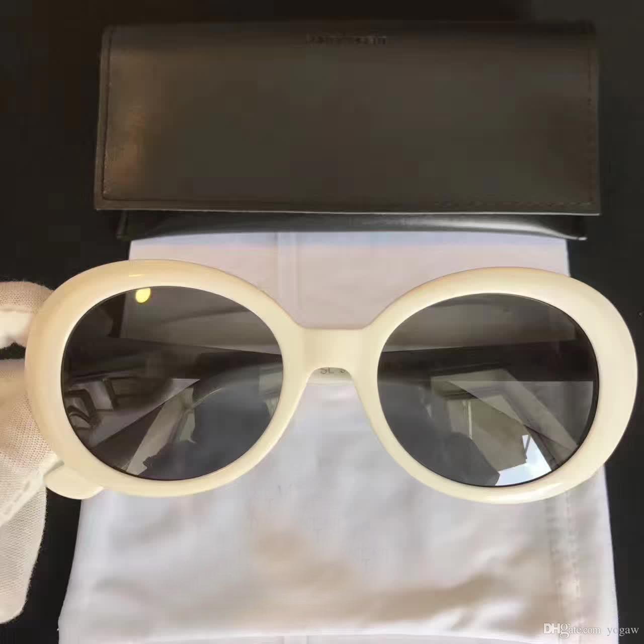 c38608ae03 Unisex California Surf Sunglasses SLP Hedi Slimane SL 98 SURF White Grey  Fashon Sunglass SL 98 Men Brand Sunglasses Brand New With Box Glasses For Men  Mens ...