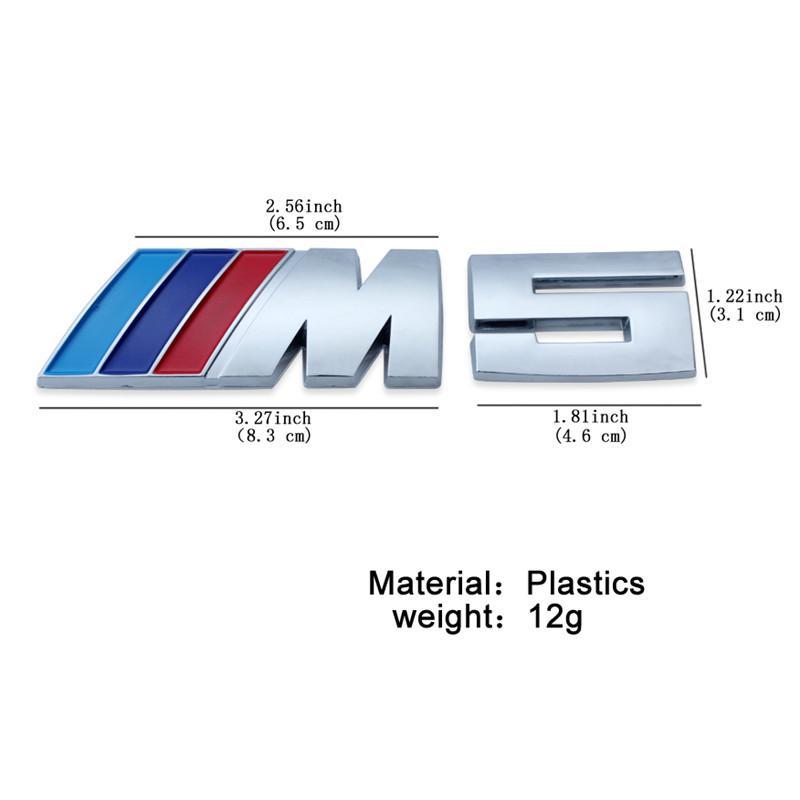10 teile / los Auto Abzeichen Emblem für m / m3 / m5 Abzeichen Power Sport Houde Boot Heck 3D Aufkleber Freies Verschiffen