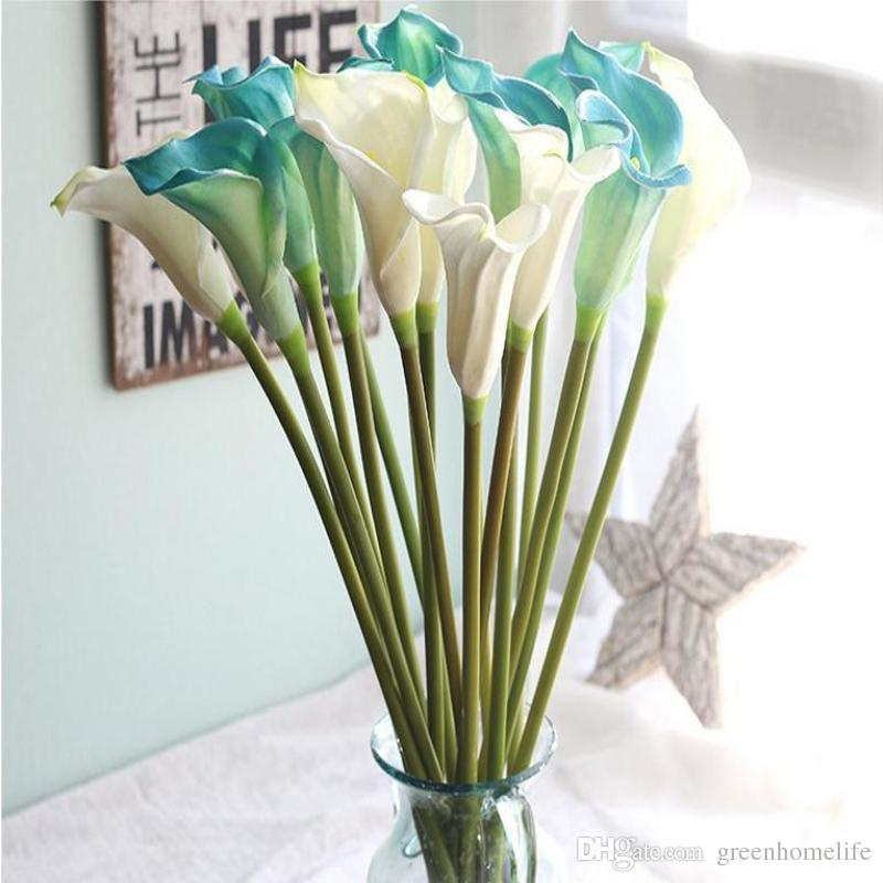 2019 artificial calla lily flower simulation real touch pe flowers rh dhgate com