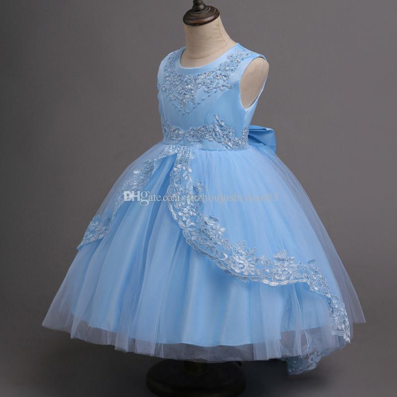 LINGLINGDING Flower Girls Dresses for Party Wedding Baby Child Prom ...