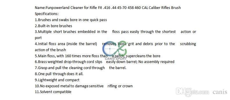 Новое поступление Чистящее средство Funpowerland для винтовки Fit .416 .44 45-70 458 460 CAL Калибр-кисть для винтовок CL33-0168