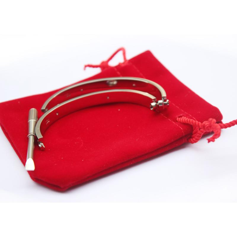 Titanium Steel Love Bracelets for women rose gold/silver/gold Screwdriver Bangles men charm screw bracelet Couple Jewelry with original bag
