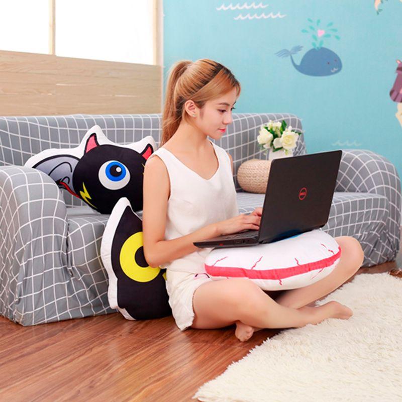 Tamanho Grande criativa dos desenhos animados Bat Eye Pillow Plush Doll Toy Macio Owl pano Pillow Almofada Home Decor