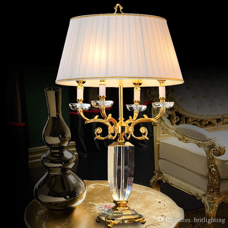2018 Creative Art Office Modern Desk Lamp Bedroom Touch Lamps Bedroom Read  Lighting Decorative Standing Lamps Led Hotel Hall Crystal Table Light From  ...