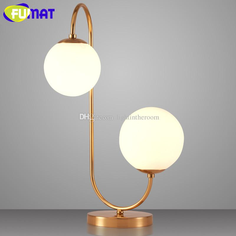 2018 Creative Glass Globes Table Lamps Bedroom Bedside Light Study Minimalist Desk Lamp Nordic White From Lightintheroom