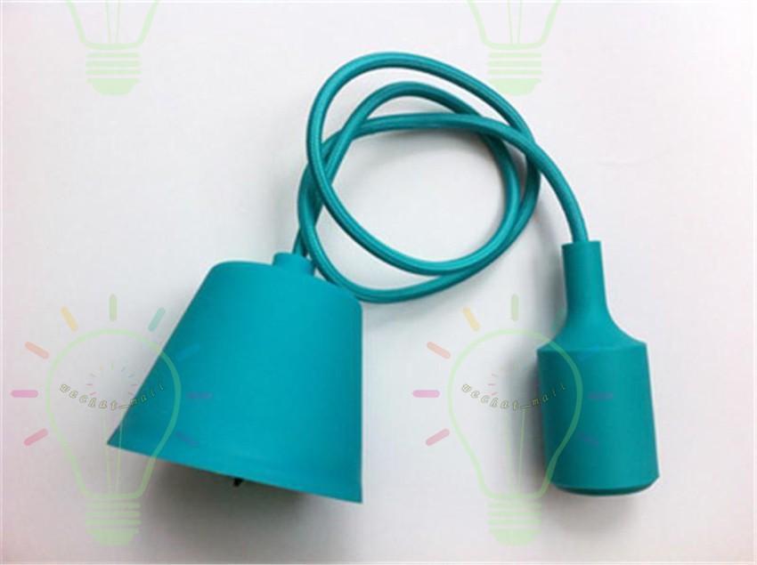 Художественный декор Силиконовые E27 Подвесная лампа Потолочный светильник Держатель для лампочки Подвесные Осветительные приспособления Базовая розетка Современный силикагель ретро красочный мувто