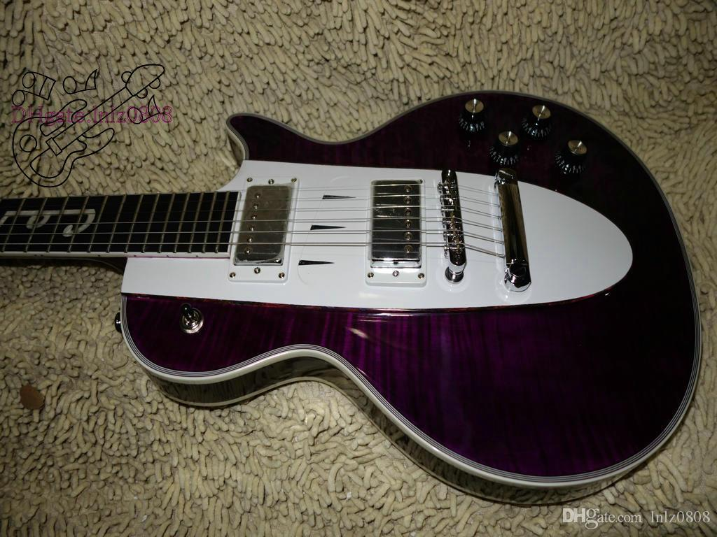 new Purple 1960 Corvette 기타 맞춤 상점 일렉트릭 기타 에보니 지판 VOS 기타 베스트 셀러 무료 배송