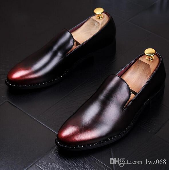 5bd323eab86 New Gommini Driving Shoes Men Loafers Genuine Leather Serpentine ...