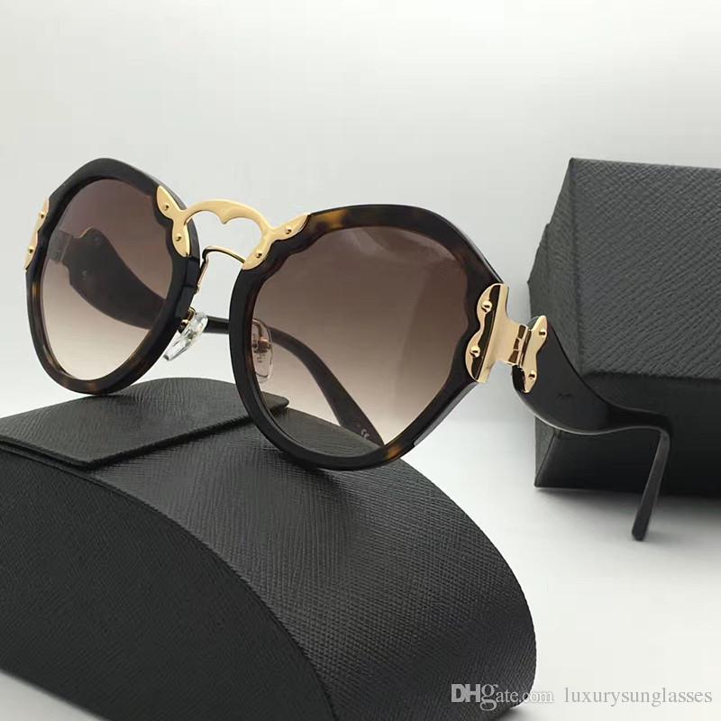 Spr 09t luxus sonnenbrille retro runde form mode vintage sommer stil uv400 schutz beliebte frauen markendesigner kommen mit fall