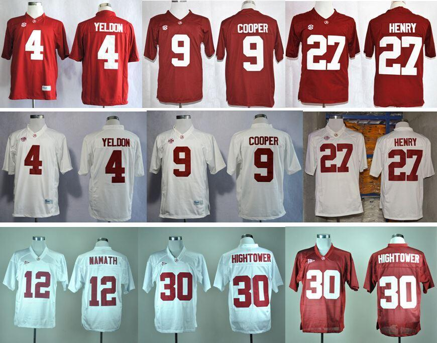 10 Youth 2017 Factory Outlet Alabama Crimson Tide College Football Jerseys  27 Derrick Henry 4 T.J Yeldon 9 ... 9a5940d0f