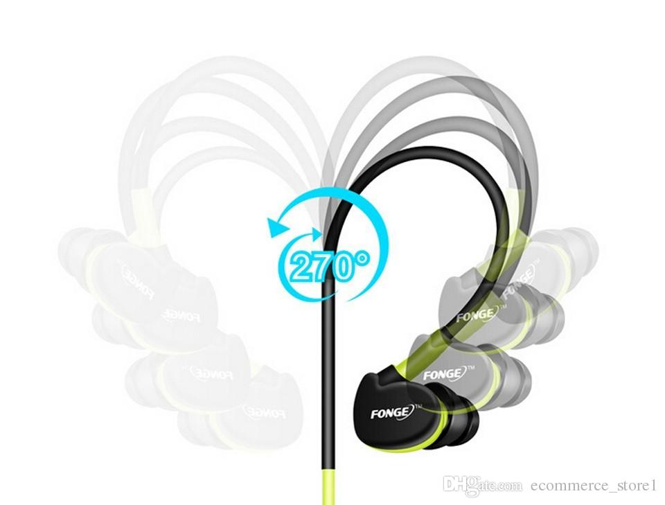 New Arrival Waterproof Sport Earphones Original FONGE IN-Ear Headphones Headset Available For most of Phone and MP3