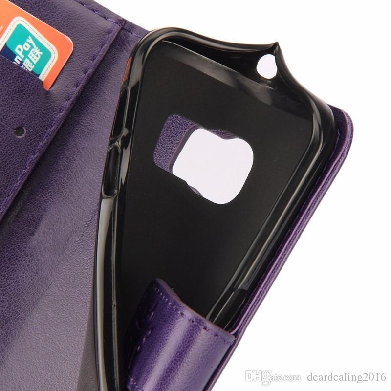 Pour Galaxy S6 Etui en cuir de téléphone de papillons en relief pour Samsung Galaxy S6 S7 Edge S4 S5 support magnétique portefeuille Flip Cover