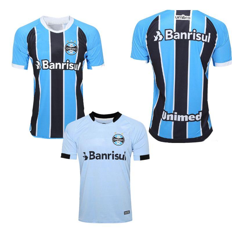 Discount Top Thai Quality New 17 18 Gremio Home Soccer Jersey Guild  Giuliano 2017 2018 Ramiro Geromel Luan Maicon Fernandinho Away Football  Shirt From China ... 57af4b603