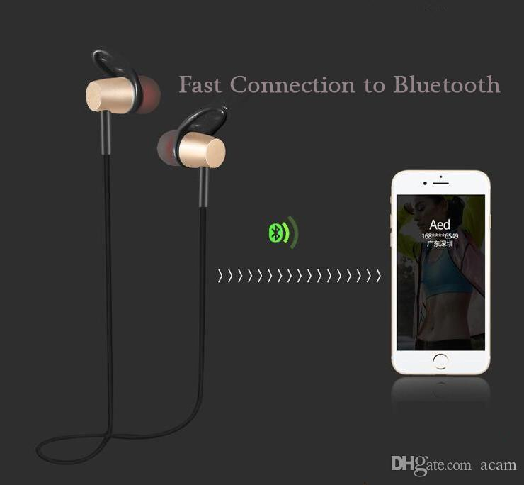 Sports Bluetooth Headset With Magnetic Earbuds+HD Microphone Bluetooth V4.1 Earphone Headphones Neckband Style For Android/IOS Phones