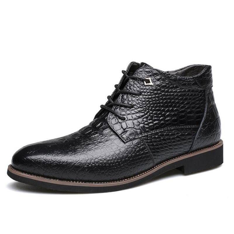 Formal Shoes Precise Snake Skin Men Leather Shoes Luxury Brand Tassel Winter Warm Male Footwear Italian Fashion Dress Wedding Brogue Oxfords For Men