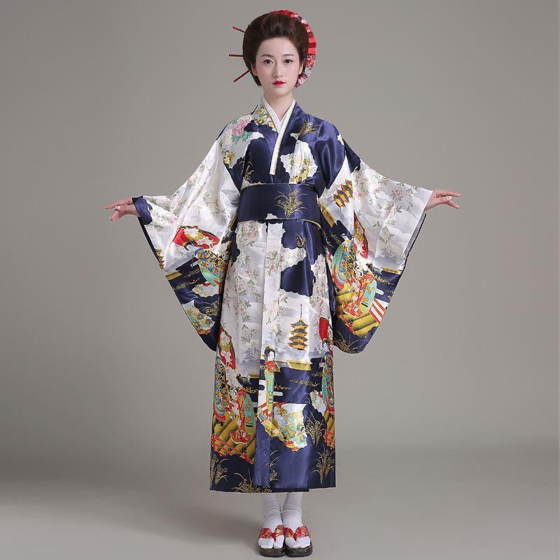 ebe2f9730dde Acquista Q0228 Di Alta Qualità Giapponese Kimono New Classic Tradizionale  Giapponese Donne Yukata Kimono Con Obi Stage Performance A  74.08 Dal  Shen8408 ...