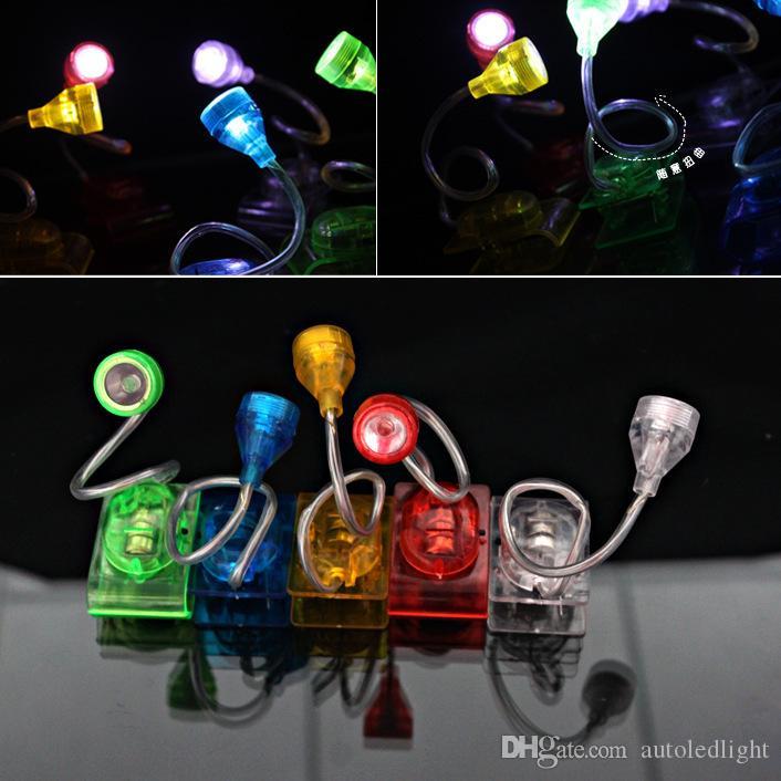 Durable ajustável clipe LED brilhante no livro de leitura Luz Mini Table Lamp LED clipe livro luz lâmpada de luz mini-noite