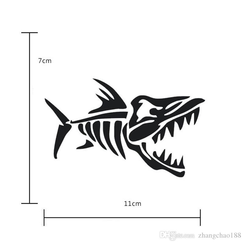 The Brand New Reflective Car Stickers 11cm*7cm Fish Bones Car Stickers Auto Decal Car Pasters Vehicle Stickers
