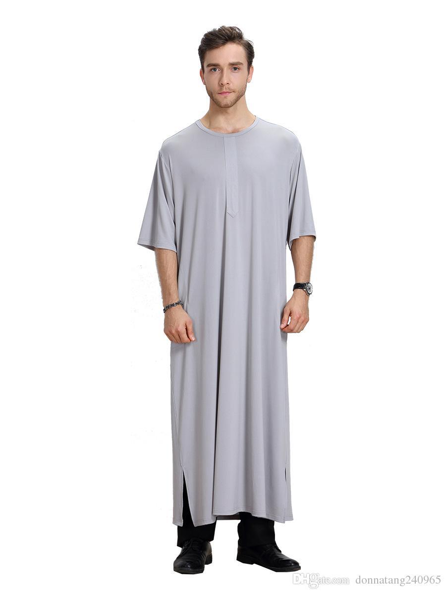 2017 Nuovo arrivo Abaya turco Vestito Musulmano vestiti islamici gli uomini abiti dubai musulmane abiti Jibab Kaftan abiti longo hijab