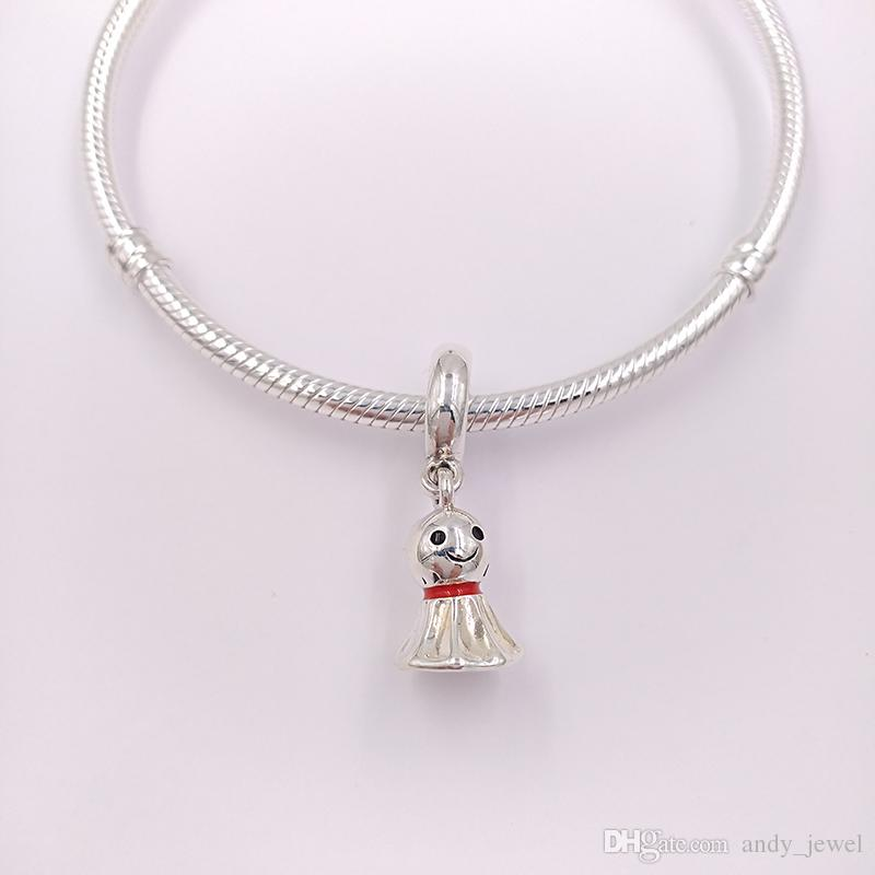 Authentic 925 Sterling Silver Beads Asian Style Sunny Dolls Charms Fits European Pandora Style Jewelry Bracelets & Necklace