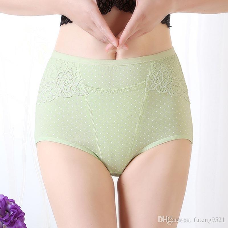 7ffdbe1b04ca ... High-Waist Pure Cotton Panties Large Size Briefs Women Underwear XL Size  Undies X- ...
