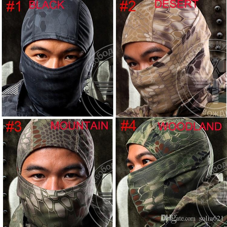 Multicam Camo Balaclava Tactical Outdoor Camouflage Cycling Motorcycle Cap Hats Full Face Mask