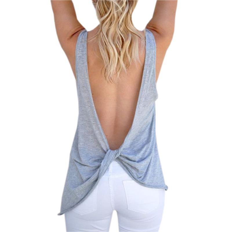 Sexy backless shirts