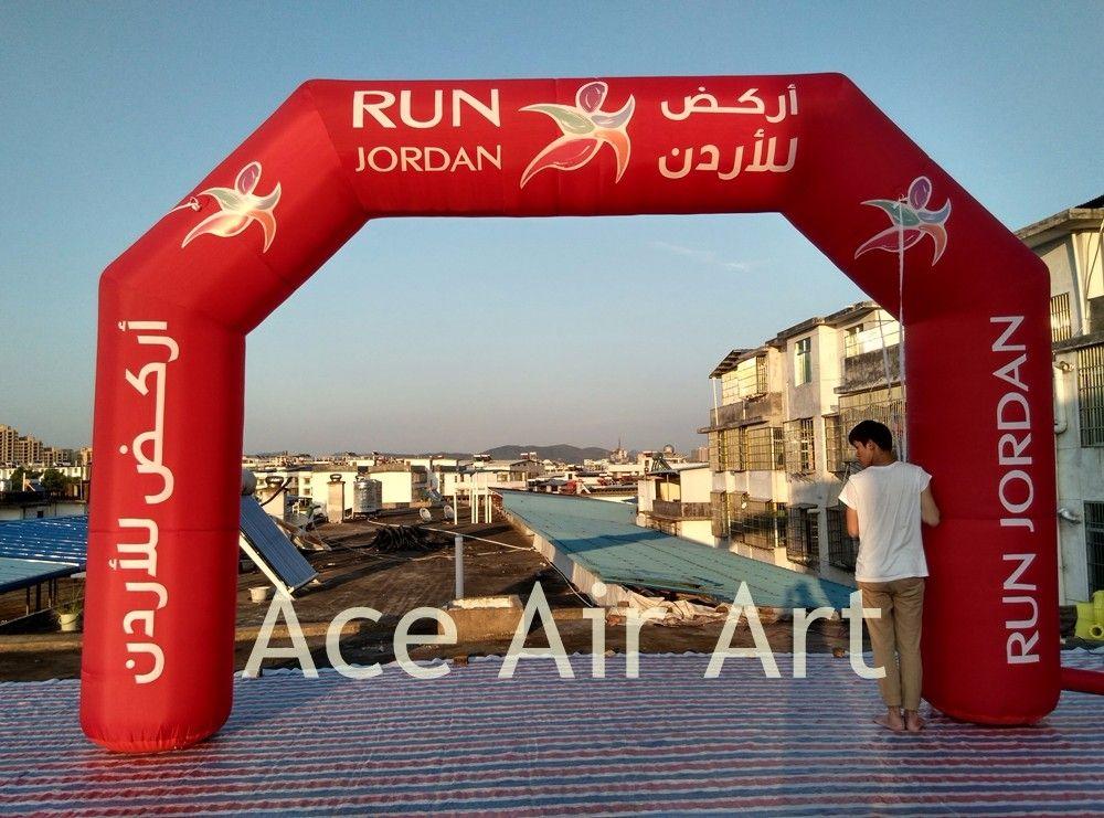 2018 neugestaltete aufblasbare Werbung Arch, volle rote Torbogen, Ziellinie für Italien Nacht Lauf starten