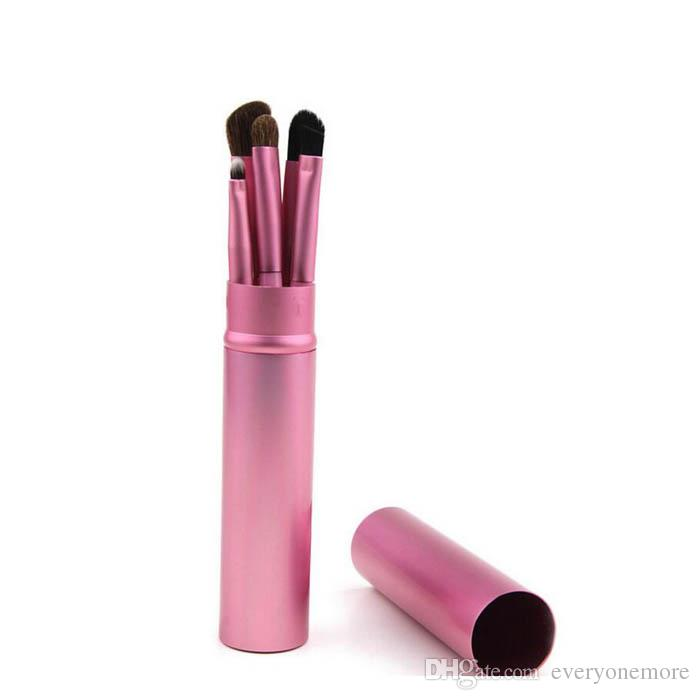 Mini Professional Eye Shadow Brushes With round Box For Eyeshadow Lip Cosmetician On Fashion Show Pink Gold Purple Black Green