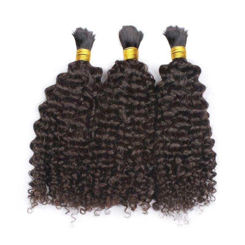 İşlenmemiş Sapıkça Kıvırcık İnsan Braidng Saç Toplu Hiçbir Atkı 8A En İyi Kalite Perulu Malezya Moğol Brezilyalı Kıvırcık Saç Toplu