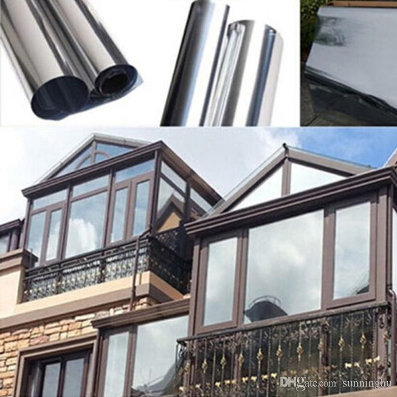 New Silver Insulation Window Stickers Solar Reflective One Way Mirror Color 200 50cm Glass S With 4 18 Piece On