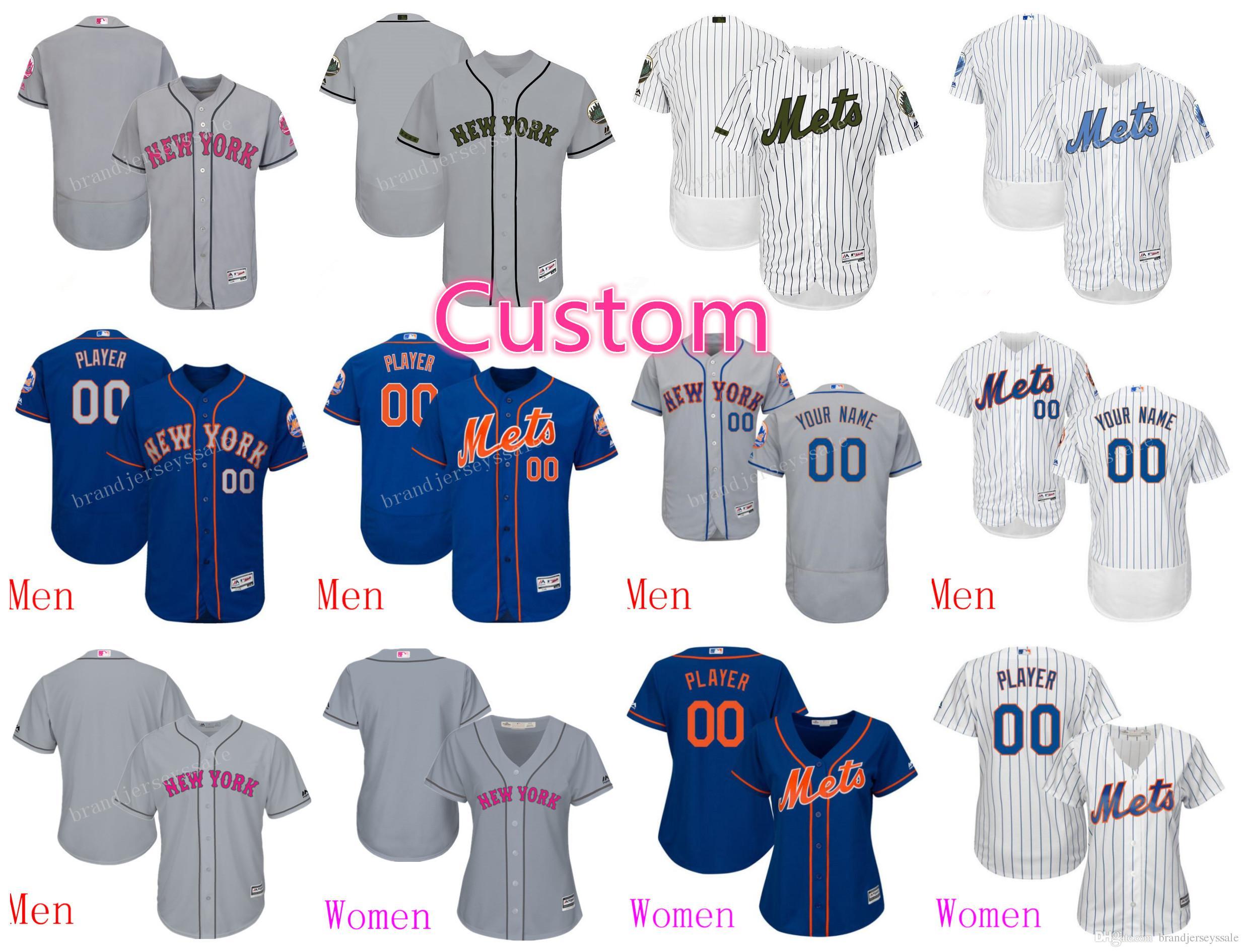sale retailer c2fca af083 netherlands new york mets customized gray jersey 03917 d6ee9