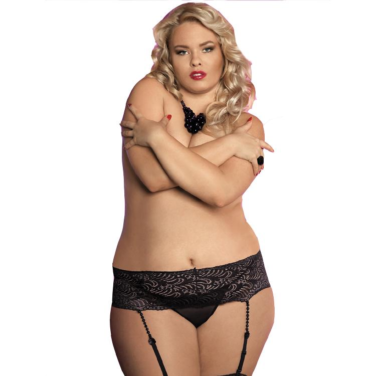 ab616242f83 Plus Size XXXL Bead Garters for Stockings Black White Sexy Lace Wedding  Garter Belt Bridal Lace Suspender for Women Fat