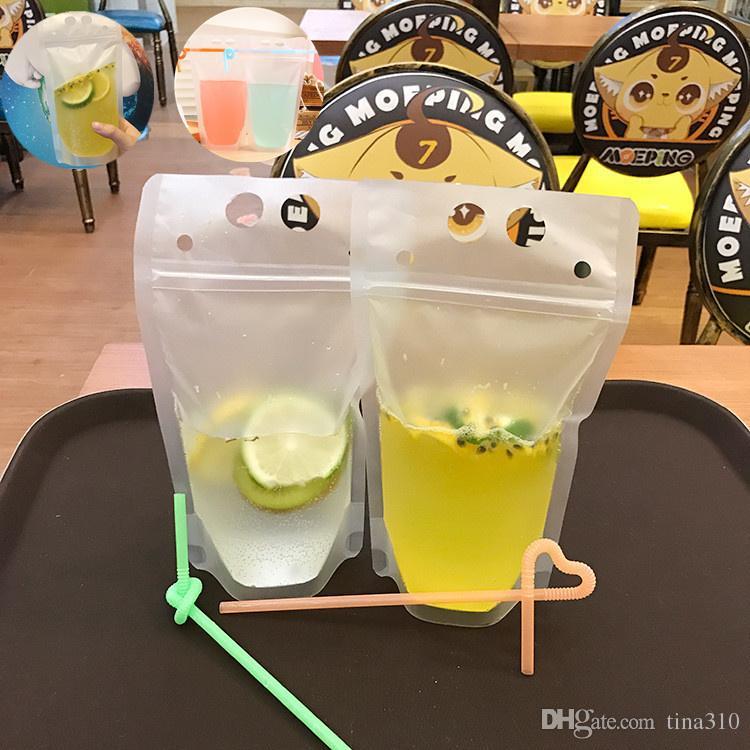 Transparent Self Sealed Plastic Beverage Bag Drink Milk