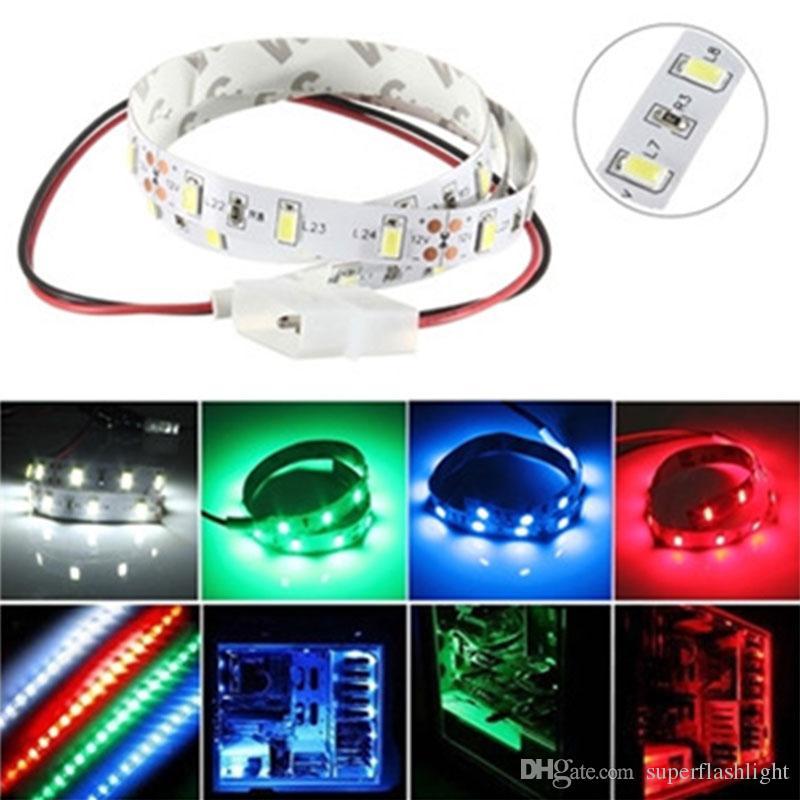 5630 Lampe Bande D 50cm Smd Led Lumière Ordinateur Del Non Étanche Adhésive Flexible 12v 004 Boîtier De VpqSMzU