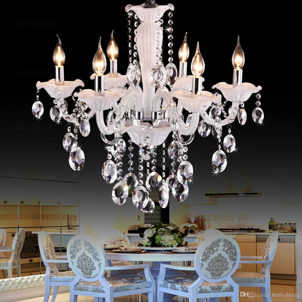 Luxury fashion dining room bar Chandelier crystal light modern living room bedroom candle lighting lamps chandelier Lighting LED chandelier