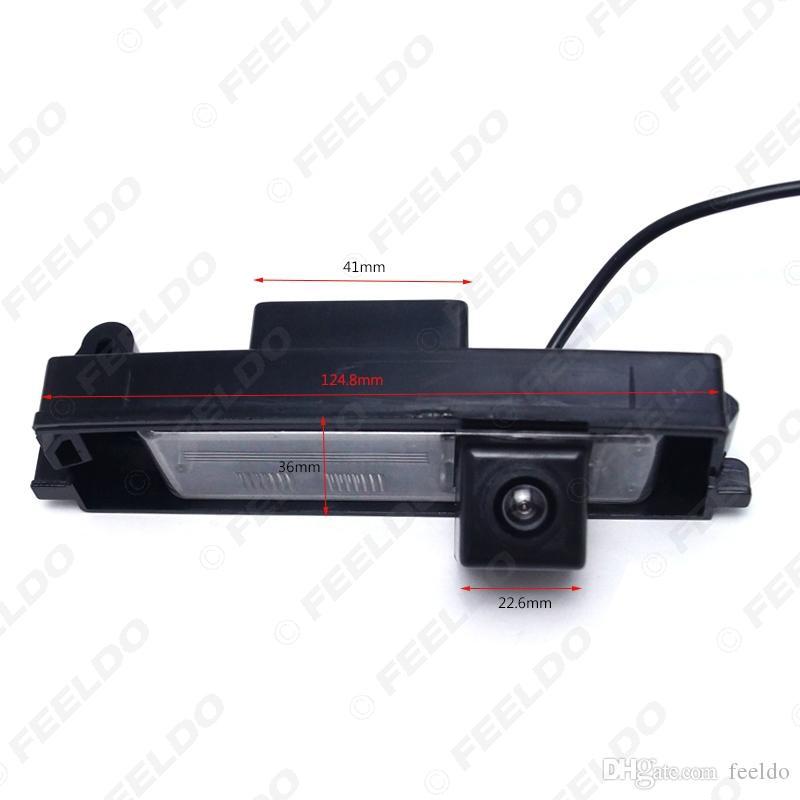 FEELDO caméra spéciale Rearview voiture Caméra de recul pour Toyota RAV4 / Porte / Platz / Vitz / Yaris Hatchback # 4054