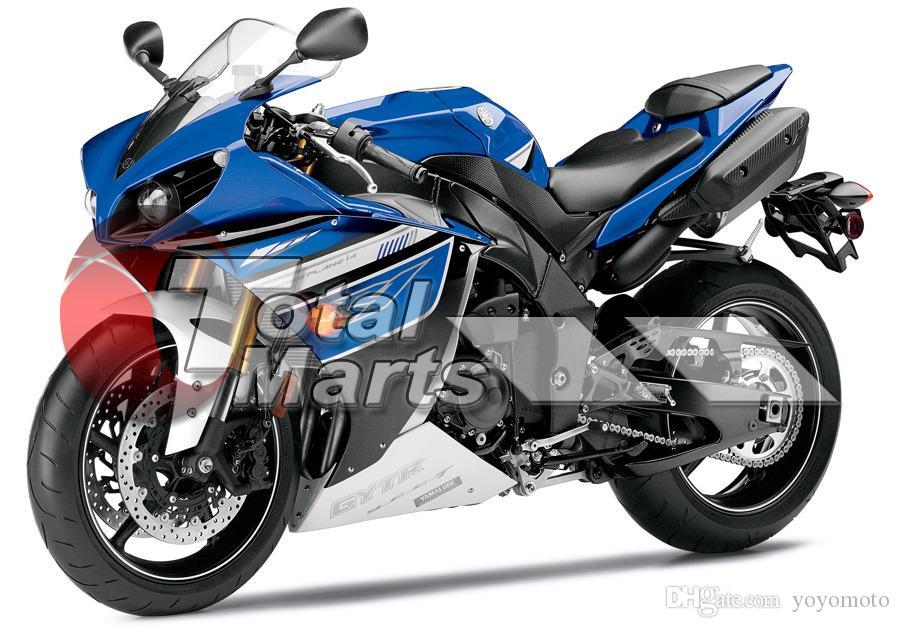 Carenagem Para A Yamaha YZF R1 YZFR1 YZF-R1 2012 2013 2014 Injeção ABS Preto FD4213 Azul FD4216 Vermelho FD4218 Branco FD4221