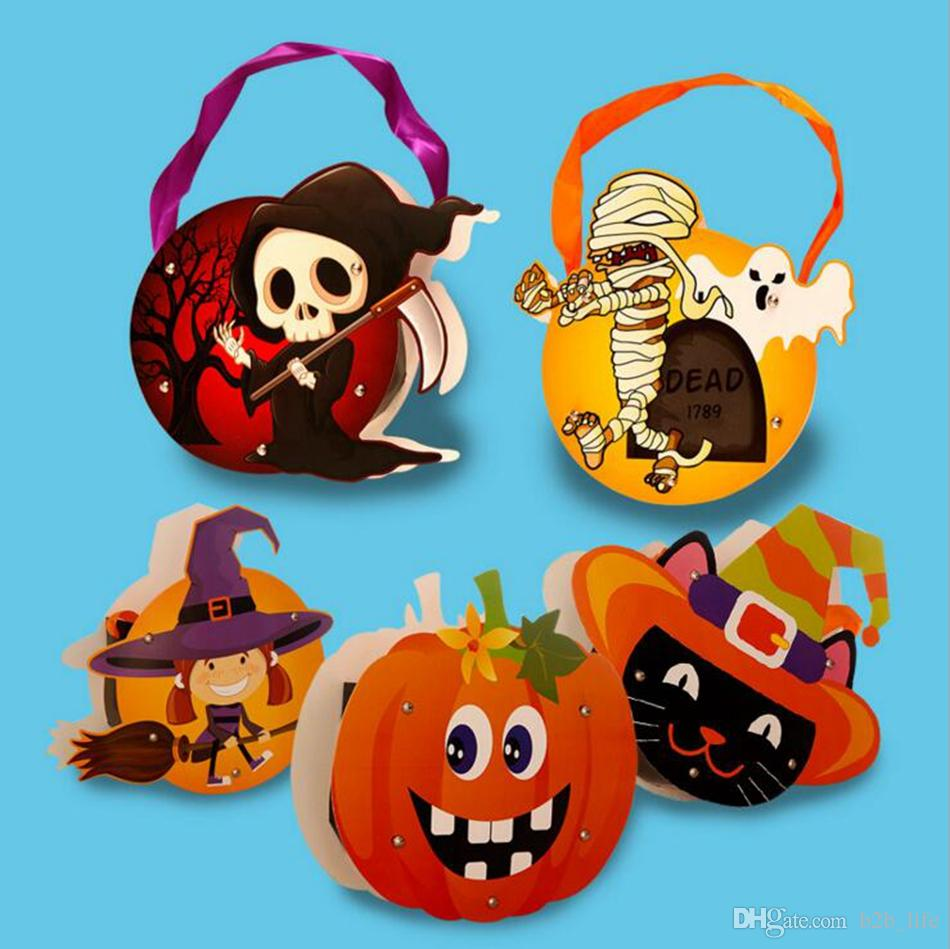 Best Halloween Cute Diy Paper Candy Bag Children Party Storage Suger ...