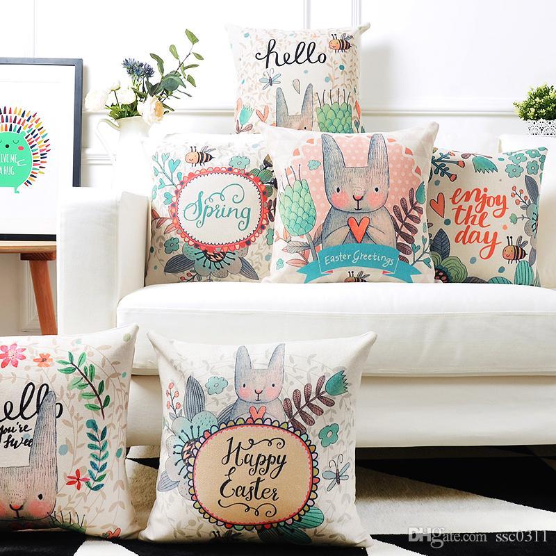New List Cartoon Cute Cushions Home Decor Korean Style Rabbit