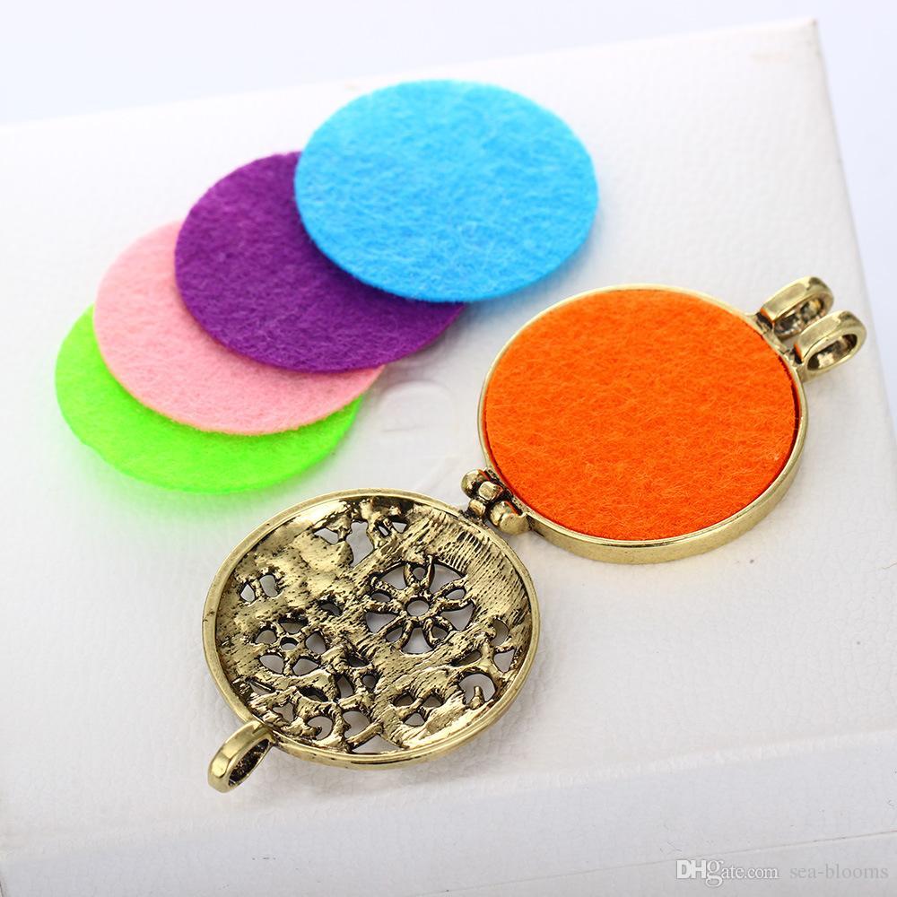 Clockwork Clock Gear con rama Esencial Aceite Difusor Joyas Aromaterapia Locket colgante incluye rellenos reutilizables B417Q