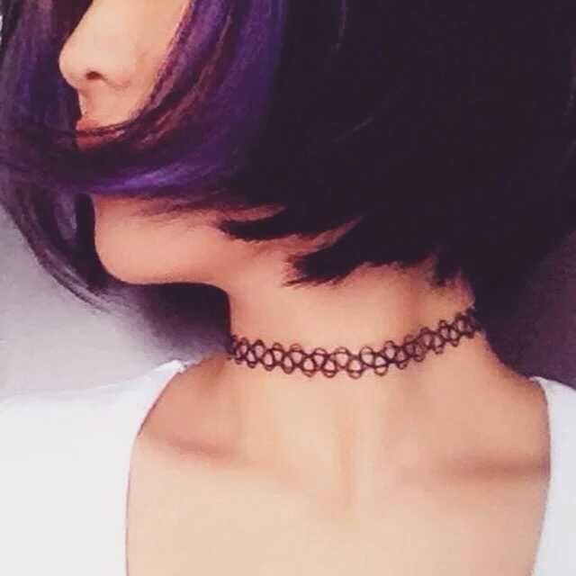 Europa y Estados Unidos hollow tattoo weaving fish line elástico mezcla collar collar pulsera anillo adornos