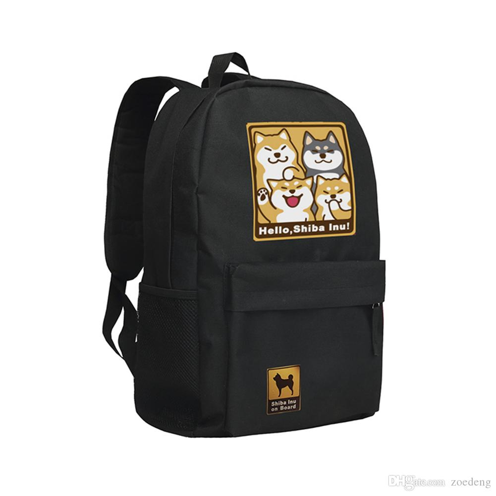 Children School Bag Anime Doge Backpack Shiba Inu Schoolbag 600D Oxford  Rucksack Doge Shiba Inu Backpack For Boys And Girls Students Mochila  Jansport ... a1d2aacb94613