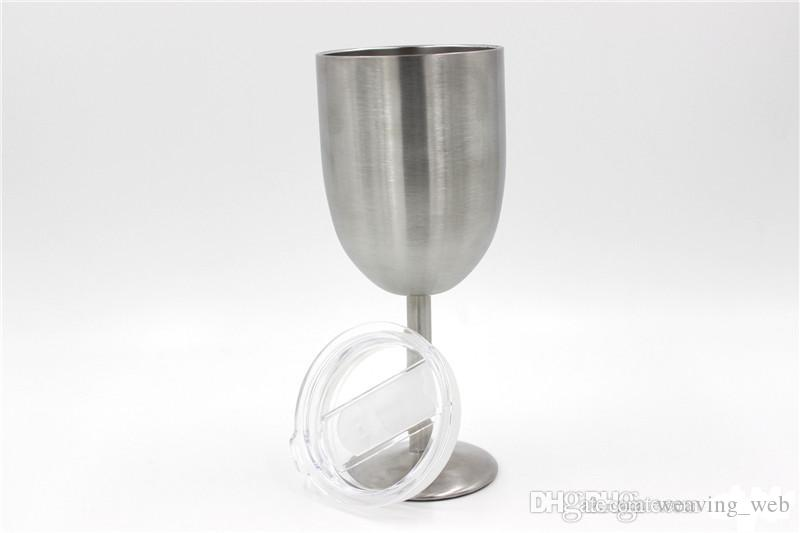 10oz goblet 10oz WINE GLASS Stainless Steel wine Cup Tumbler 300ml Vacuum insulation double wall vacuum insulation