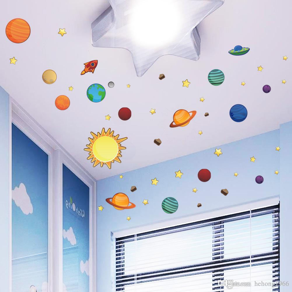 Wall Sticker Creative Solar System Planet For Kid Room Nursery School  Backdrop Water Proof Removable Decal Art Mural Home Decor 5tt F R Wall  Decals For ...