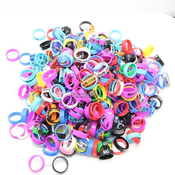Colorful Vape Band 22 * 7mm anelli di silicone sigaretta elettronica ecig in gomma RDA RTA atomizzatore Mods vaporizzatore serbatoio DHL LIBERA il trasporto